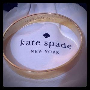 "EUC Kate Spade ""AS GOOD AS GOLD"" Bangle Bracelet"